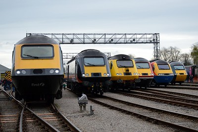 HST lineup at St Phillips Marsh Depot Bristol 2 May 2016