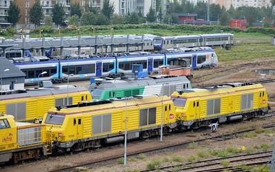 75098 & 75099 Rouen Depot 12 September 2015 Infra Division locos