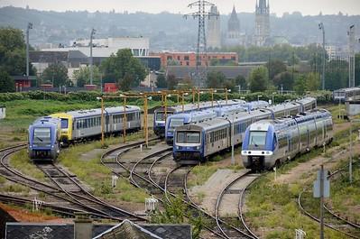 DMUs at Rouen Depot 12 September 2015