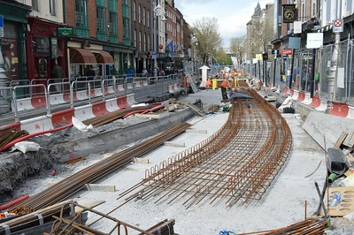 Dawson St Luas XC works 4 April 2016