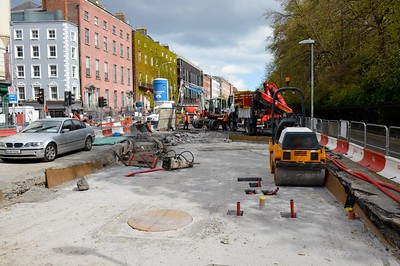 St Stephens Green Luas XC works 4 May 2016