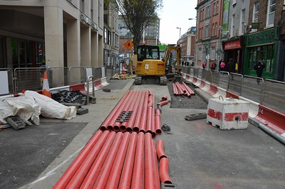 Marlborough St Luas XC works 4 May 2016